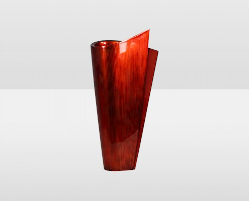 Tall 67cm Red Vase