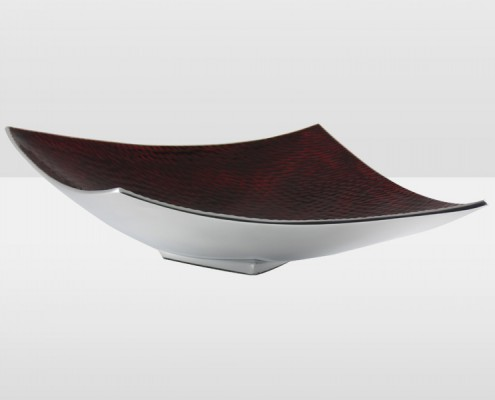 Red 43cm Rice Textured Abstract Platter