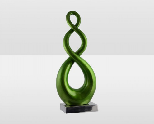 Lime 52cm Entwined Sculpture